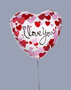 Order I Love You Dotted Hearts Balloon from Netflorist