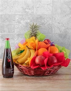 Basket of Fresh Fruit and Monis Juice