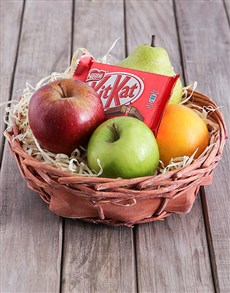 Fruit and Kit Kat Basket!