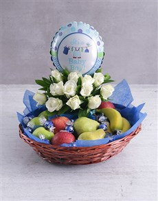 Baby Boy Fruit Fantasy Basket!