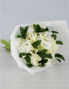 Cut Amaryllis in White Wrapping!
