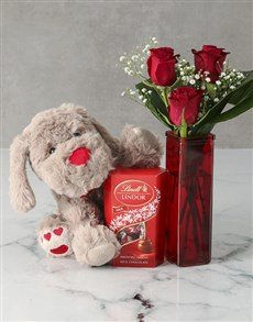 Your one in a Million Red Rose Vase !