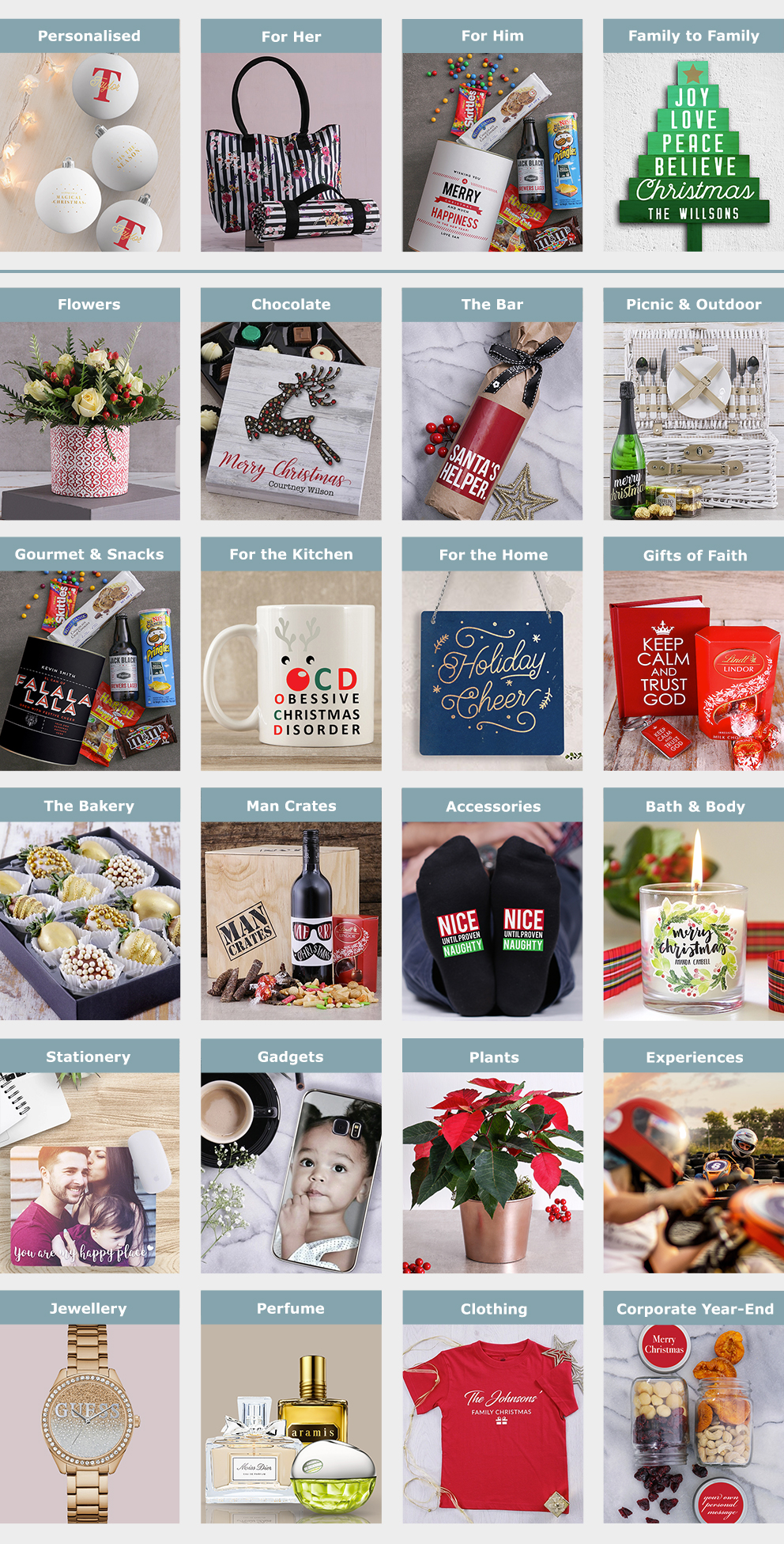 Christmas Gift Guide Layout.Christmas Gifts Ideas