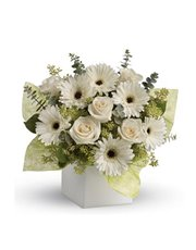 Send serenity with this artful arrangement of pure