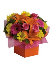 Joyful moments call for happy flowers! This box of