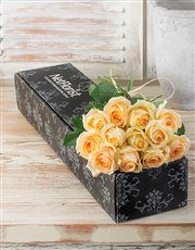 Cream Roses in a Box
