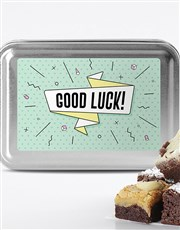 Good Luck Brownie Tin