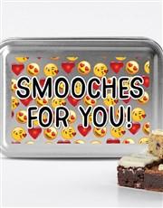 Valentines Day Smooches Chocfull Brownie TIn