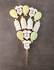 Personalised A Baby Is Born Cookie Bouquet