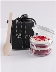 Single Red Velvet Cupcake Jar