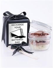 Recharge Batteries Bar One Cupcake Jar