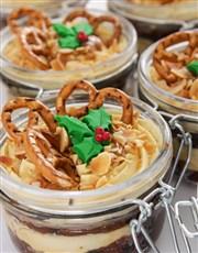 Fruit and Caramel Custard Cake Jars