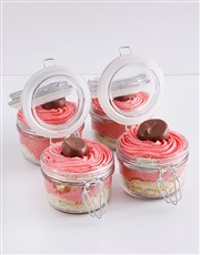 Speckled Egg Strawberry Marshmallow Cupcake Jars