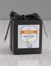 Personalised New Baby Vanilla Cake Jar