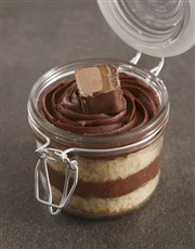Personalised Love Bar One Cake Jar