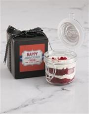 Personalised Anniversary Red Velvet Cake Jar
