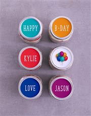 Personalised Bright Birthday Cake Jars