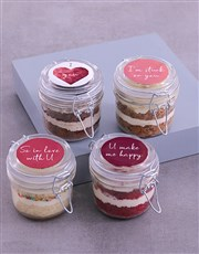 Personalised Love Cupcake Jars