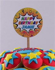 Personalised Super Duper Birthday Cupcake Bouquet