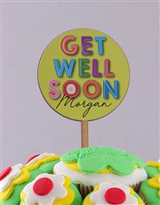 Personalised Get Well Soon Cupcake Bouquet