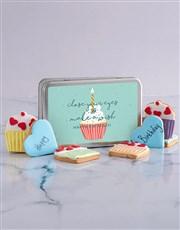 Birthday Cupcake Cookie Tin