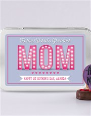 Personalised Greatest Mom Treat Tin