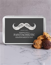 Personalised Chocfull Cookie Tin for Grandpa