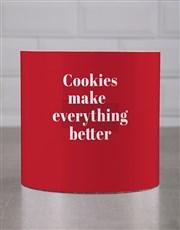 Personalised Red Indulge Cookie Tube