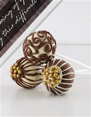 Thinking of You Chocolate Cake Pops