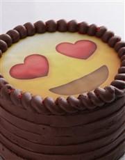 Love Emoji Chocolate Cake