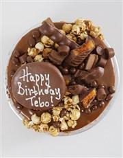 Personalised Chocolate Caramel Pop Drip Cake