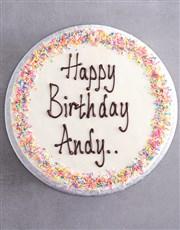 Personalised Vanilla Birthday Cake