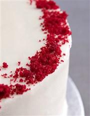 Personalised Red Velvet Birthday Cake