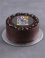 Personalised Congratulations Cake
