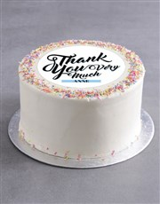 Personalised Thank You Cake