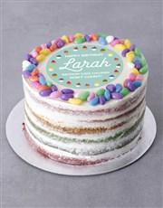 Personalised Sweet Birthday Cake