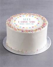 Personalised Sweet Love Cake