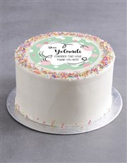 Personalised Thank You Bubbles Cake