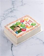 Birthday Balloons Photo Cake