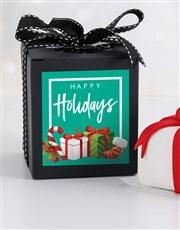 Mini Christmas Gift Cake in a Box