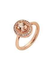 9kt Rose Gold Ring, Claw set with a 8 x 6mm Oval 1