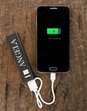 Personalised Black Discovery Power Bank