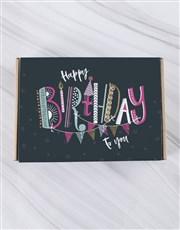 Birthday Stripe Doughnut Box