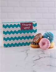 Thank You Stripy Doughnut Box