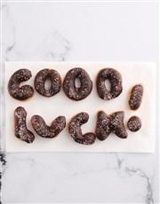 Good Luck Doughnut Letters