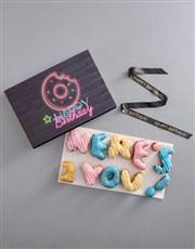 Birthday Doughnut Letters
