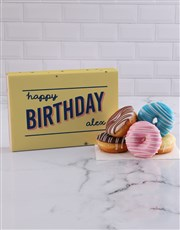 Personalised Happy Birthday Doughnuts