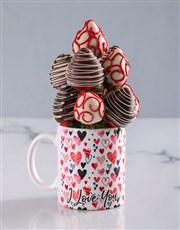 Dipped Strawberries in a Love Mug