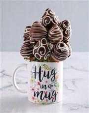 Friendship Dipped Strawberries in a Mug