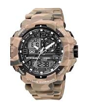 QQ Gents Outdoors Beige Army Plastic Watch.  Black